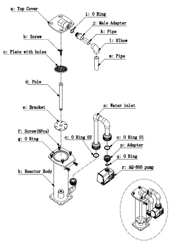 Explosion Chart for Bio churn-90HOB-EXT