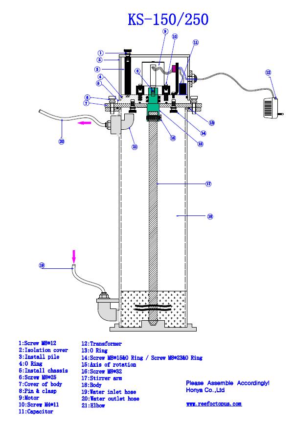 Explosion Chart for KS-150 KS-250