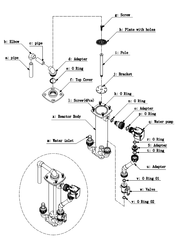 Explosion Chart for Bio churn-120R