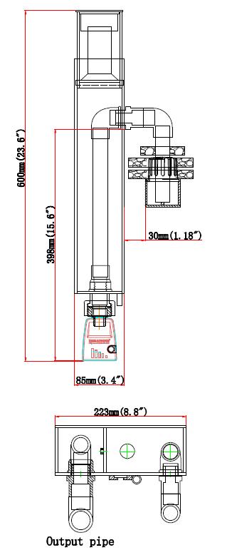 Skimmer Size Classic 1000-HOB